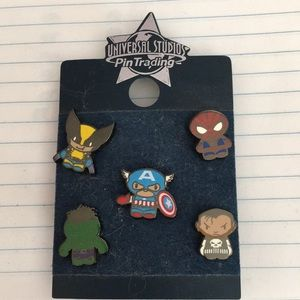 Universal Studios Marvel Superhero Trading Pin Set